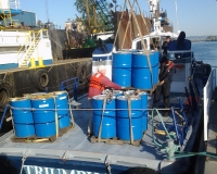 Triumph II being loaded
