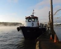 Triumph V at the dock